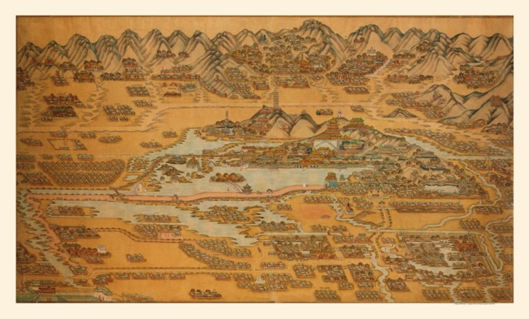 Antique map of Beijing circa 1888.  This map represents the capital as Sun Lutang would have known it as a young man.  While these sorts of map lack modern scale, they often convey important social information about the shape and makeup of a community.